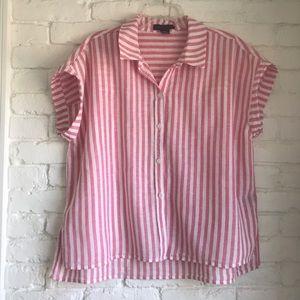 ANTRHO | Sanctuary Pink/White Striped Shortsleeve